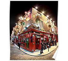 Bright Lights, Big City - Temple Bar - Dublin Ireland Poster
