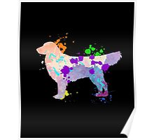 German Shepherd Puppy Cool Dog Gift Shirt For Kids & Adults Poster