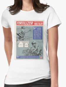 Vintage poster - Fertilizer Womens Fitted T-Shirt