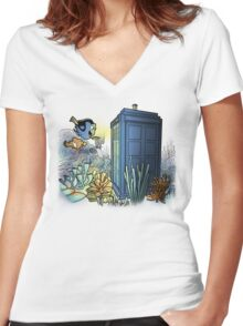 Finding Phonebooth Women's Fitted V-Neck T-Shirt