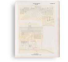 0439 Neues Reich Dynastie XVIII El Amarna Tell el Amarna Nördliche Gräbergruppe Grab 6 Canvas Print