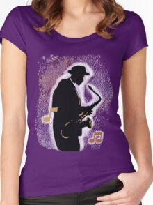 Jazz History with Billie Holiday and Fats Waller Women's Fitted Scoop T-Shirt