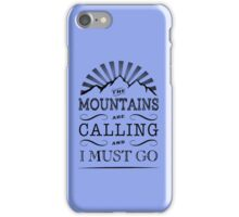 Mountains. iPhone Case/Skin