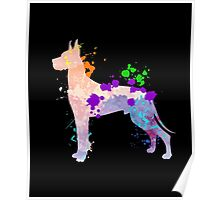 Great Dane Shirt For People | Colorful Gift For Kids & Adult Poster