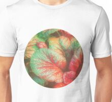 RED GREEN LEAFY PLANT Unisex T-Shirt
