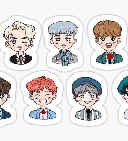 BTS Forever Young Stickers FULL SET (DAY) Sticker