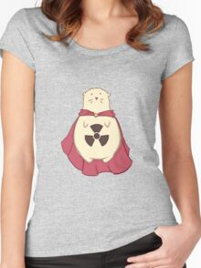 ATOMIC HAMSTER!  Women's Fitted Scoop T-Shirt