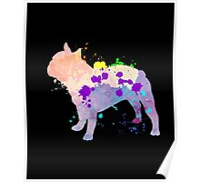 Cool & Cute Colorful Bulldog Gift T-Shirt For Adult & Kids Poster