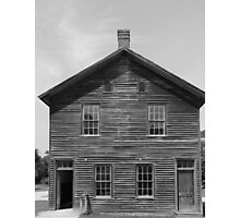 Town hall Fayette State Park BW Photographic Print
