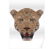 Geometric Leopard Face Poster