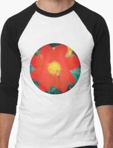 VINTAGE RED FLOWER Men's Baseball ¾ T-Shirt