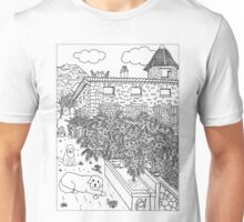 Beautiful Farm of Brigaudière - B/W Unisex T-Shirt