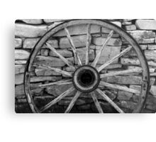 Wagon wheel 4 BW Metal Print