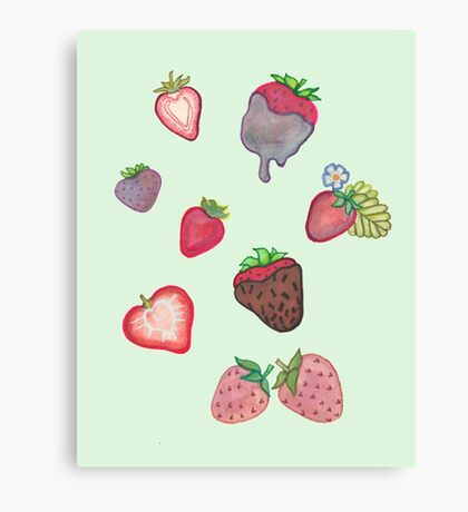 Strawberry Bundle Canvas Print