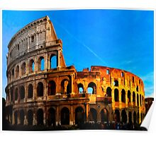 Roma Colosseum Antiqua - Italy Poster