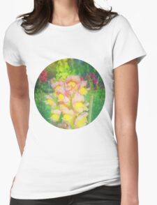 VINTAGE FLOWERS Womens Fitted T-Shirt