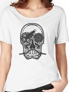 Bike Parts Skull. Women's Relaxed Fit T-Shirt