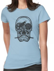 Bike Parts Skull. Womens Fitted T-Shirt