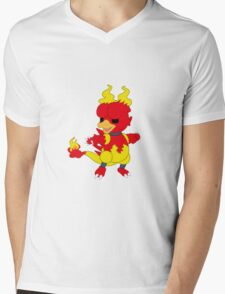 Chibi Magmar Mens V-Neck T-Shirt
