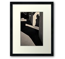 Arch and Shadow Old Town ABQ Toned Framed Print
