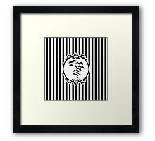 Stripes and Bats Framed Print