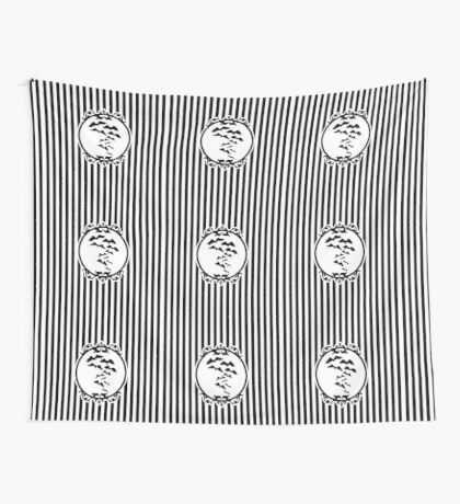 Stripes and Bats Wall Tapestry