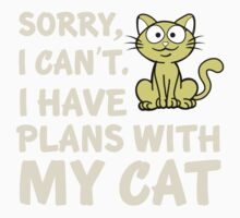 I Have Plans With My Cat Kids Tee