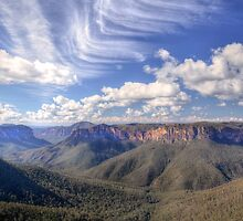 At Govetts Leap by Karine Radcliffe