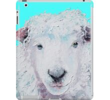 A Woolly sheep on turquoise background iPad Case/Skin