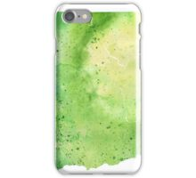 Watercolor Map of Washington, USA in Green - Giclee Print My Own Watercolor Painting iPhone Case/Skin