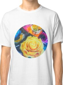 Wax Candle Flowers Classic T-Shirt