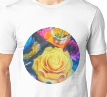Wax Candle Flowers Unisex T-Shirt
