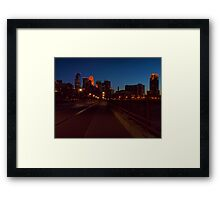 Minneapolis Night Framed Print