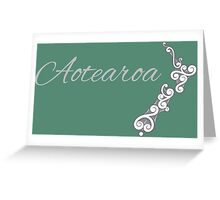 Aotearoa the land of the long white cloud Greeting Card