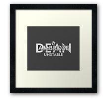 """Dean Ambrose """"Unstable"""" Framed Print"""