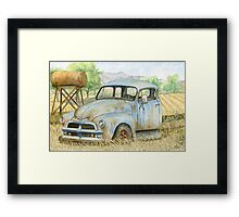 Rusty Blue Chevy Framed Print