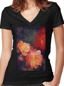 Rose 358 Women's Fitted V-Neck T-Shirt