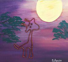 Sunset Giraffe by wildtangents