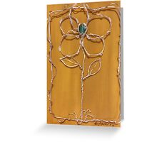 Silver flower in a frame Greeting Card