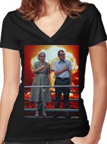 American Exceptionalism Women's Fitted V-Neck T-Shirt