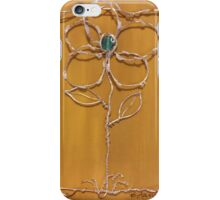 Silver flower in a frame iPhone Case/Skin