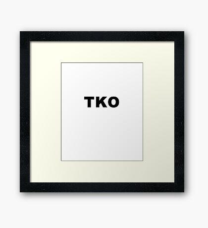 TOTAL KNOCKOUT Framed Print