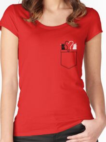 poCATS Love - Red Women's Fitted Scoop T-Shirt