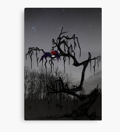 Winged Elf In a Tree Canvas Print