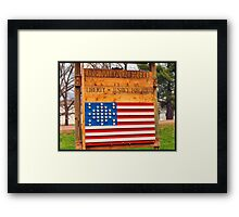 One Nation Framed Print