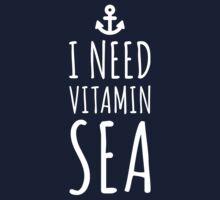 Vitamin Sea (Plain) Travel Quote Kids Tee