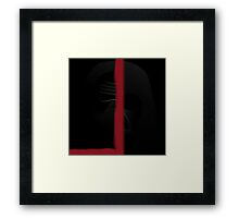 Star wars Dath Vader and Kylo Ren Framed Print