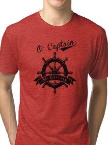 O Captain, My Captain, Walt Whitman, Poetry Tri-blend T-Shirt