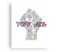 Tuff Girl Peace Sign Graphic Canvas Print