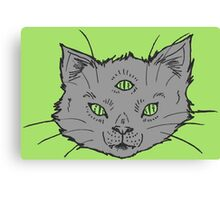 3 Eyed Kitty Flash-LIMITED TIME ONLY Canvas Print